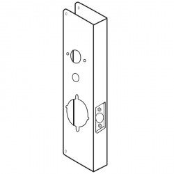 DON JO 27-CW Wrap Around Plates for Alarm Lock 2700/T2, 3000 & DL 4100 Series Trilogy Lock