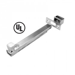 DON-JO 1578 UL Rated Surface Bolt, Satin Chrome Finish