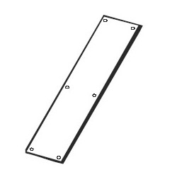 Don-Jo 76 Push Plate, Satin Stainless Steel Finish