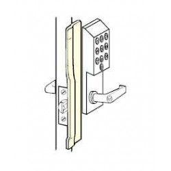 Don-Jo KLP-110-RHR Latch Protector, Satin Stainless Steel Finish