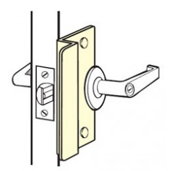 Don-Jo OSLP-107 Latch Protector, Satin Stainless Steel Finish