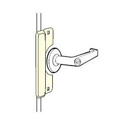 Don-Jo 9211 Latch Protector for Outswinging Doors, Pollybagged