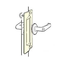 Don-Jo PLP-111-EBF Latch Protector, Satin Stainless Steel Finish