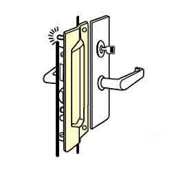 Don-Jo PMLP-111-EBF Latch Protector, Satin Stainless Steel Finish