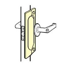 Don-Jo LP-107-EBF Latch Protector, Satin Stainless Steel Finish