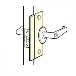 Don-Jo SLP-106-EBF Latch Protector, Satin Stainless Steel Finish