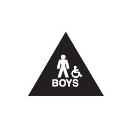 Don-Jo Boys Room Restroom Sign, Blue Finish