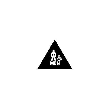 Don Jo Chs 6 Men Triangle Mens Room Restrooom Sign Black Finish