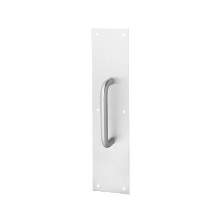 Commercial offset door pulls Inch Stainless Rockwood 106 70b Pull Plate 6