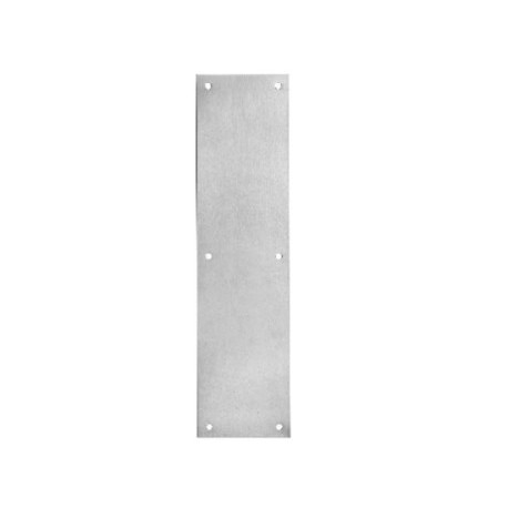 16 Height x 8 Width x 0.050 Thick Four Beveled Edges Rockwood 70F.3 Brass Standard Push Plate Polished Clear Coated Finish