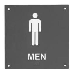 Rockwood BF684 BF Series ADA Bathroom Restroom Signs