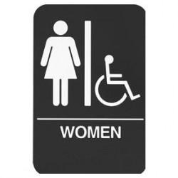 Rockwood BF688 BF Series ADA Bathroom Restroom Sign