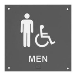 Rockwood BF687 BF Series ADA Bathroom Restroom Sign