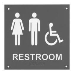 Rockwood BF689 BF Series ADA Bathroom Restroom Signs