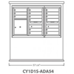 2B Global Contemporary Mailbox Kiosk CY1D1S-ADA54 (Mailbox Sold Separately)