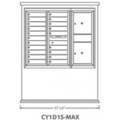 2B Global Contemporary Mailbox Kiosk CY1D1S-Max (Mailbox Sold Separately)