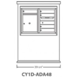 2B Global Contemporary Mailbox Kiosk CY1D-ADA48 (Mailbox Sold Separately)