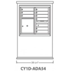 2B Global Contemporary Mailbox Kiosk CY1D-ADA54 (Mailbox Sold Separately)
