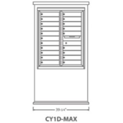 2B Global Contemporary Mailbox Kiosk CY1D-Max (Mailbox Sold Separately)