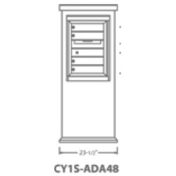 2B Global Contemporary Mailbox Kiosk CY1S-ADA48 (Mailbox Sold Separately)