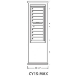 2B Global Contemporary Mailbox Kiosk CY1S-Max (Mailbox Sold Separately)