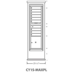 2B Global Contemporary Mailbox Kiosk CY1S-MaxPL (Mailbox Sold Separately)
