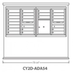 2B Global Contemporary Mailbox Kiosk CY2D-ADA54 (Mailbox Sold Separately)