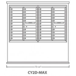 2B Global Contemporary Mailbox Kiosk CY2D-Max (Mailbox Sold Separately)