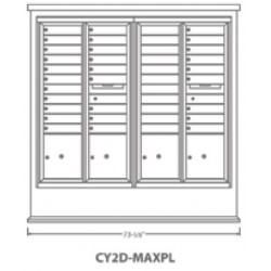 2B Global Contemporary Mailbox Kiosk CY2D-MaxPL (Mailbox Sold Separately)