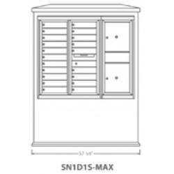 2B Global Suburban Mailbox Kiosk SN1D1S-Max (Mailbox Sold Separately)