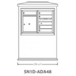 2B Global Suburban Mailbox Kiosk SN1D-ADA48 (Mailbox Sold Separately)