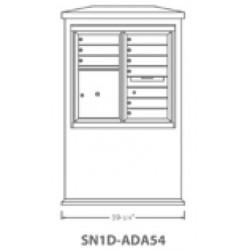2B Global Suburban Mailbox Kiosk SN1D-ADA54 (Mailbox Sold Separately)
