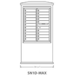 2B Global Suburban Mailbox Kiosk SN1D-Max (Mailbox Sold Separately)