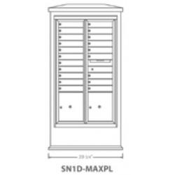 2B Global Suburban Mailbox Kiosk SN1D-MaxPL (Mailbox Sold Separately)