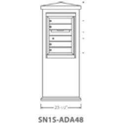 2B Global Suburban Mailbox Kiosk SN1S-ADA48 (Mailbox Sold Separately)
