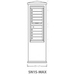 2B Global Suburban Mailbox Kiosk SN1S-Max (Mailbox Sold Separately)