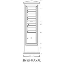 2B Global Suburban Mailbox Kiosk SN1S-MaxPL (Mailbox Sold Separately)