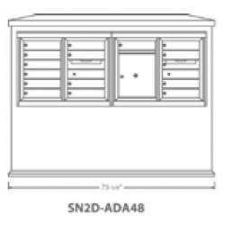 2B Global Suburban Mailbox Kiosk SN2D-ADA48 (Mailbox Sold Separately)