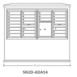 2B Global Suburban Mailbox Kiosk SN2D-ADA54 (Mailbox Sold Separately)