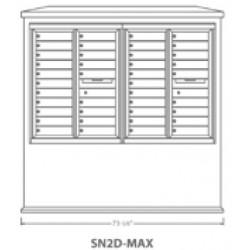 2B Global Suburban Mailbox Kiosk SN2D-Max (Mailbox Sold Separately)