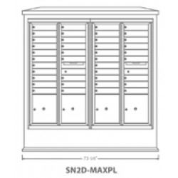 2B Global Suburban Mailbox Kiosk SN2D-MaxPL (Mailbox Sold Separately)