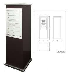 2B Global Contemporary Mailbox Kiosk CY1S-ADA54 (Mailbox Sold Separately)