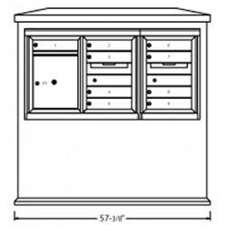 2B Global Suburban Mailbox Kiosk SN1D1S-ADA48 (Mailbox Sold Separately)