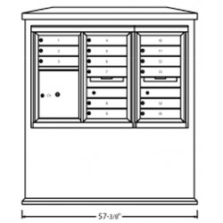 2B Global Suburban Mailbox Kiosk SN1D1S-ADA54 (Mailbox Sold Separately)