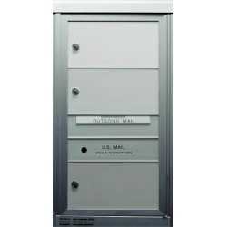 2B Global Commercial Mailbox 3 Double Height Tenant Door -ADA54 Series SD3