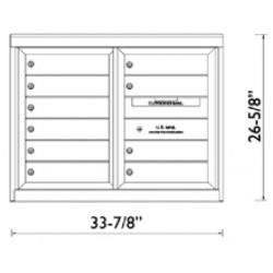 2B Global Commercial Mailbox 10 Single Height Tenant Door -ADA48 Series D10