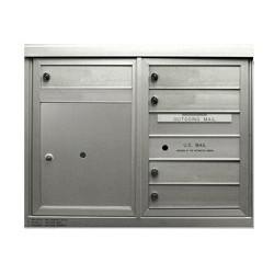2B Global Commercial Mailbox 5 Single Height Tenant Door 1 Parcel Locker Door -ADA48 Series D5P1