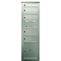 2B Global Commercial Mailbox 1 Single Height Tenant Door 4 Double Height Tenant Door 1 Parcel Locker Door -Max+PARCEL Series S1D