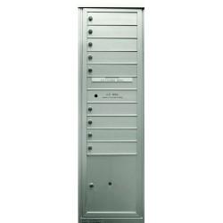 2B Global Commercial Mailbox 9 Single Height Tenant Door 1 Parcel Locker Door -Max+PARCEL Series S9P1