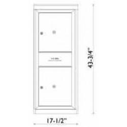 2B Global Commercial Mailbox 2 Parcel Locker Door -Max Series P2